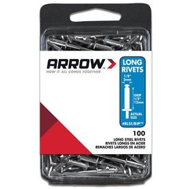 Arrow Fastener 100-Pack 1/8 Zinc or Cadm. Steel Rivets