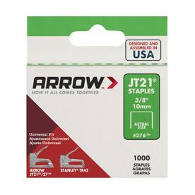 Arrow Fastener 1,000-Count 0.375-in Wide-Crown Staples