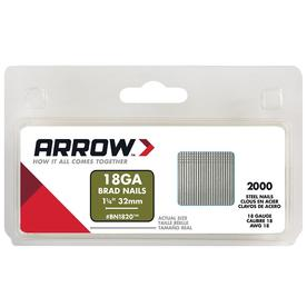 Arrow Fastener 1000-Count 18-Gauge 1.25-in Plain Steel Brad
