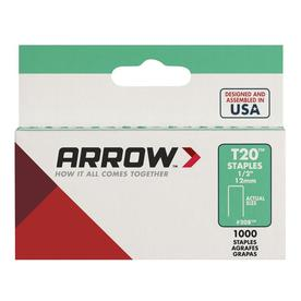 "Arrow Fastener No. 208, 1/2"" Flat Crown Staples"