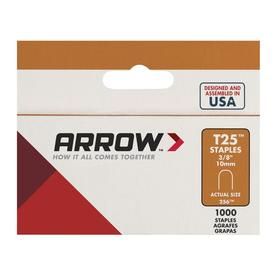 "Arrow No. 256, 3/8"" Round-Crown Staples 1000 Pack"