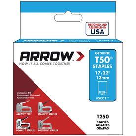 Arrow Fastener 1,250-Count 0.531-in T50 Staples