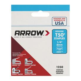 Arrow Fastener 1,250-Count 0.25-in T50 Staples