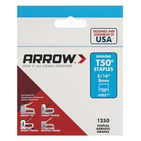 Arrow Fastener 1,250-Count 0.3125-in T50 Staples