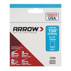 Arrow 1,250-Count 0.5625-in T50 Staples