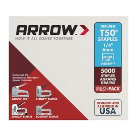 Arrow Fastener 5,000-Count 0.25-in T50 Staples