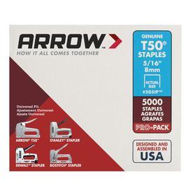 Arrow Fastener 5,000-Count 0.3125-in Heavy-Duty Staples