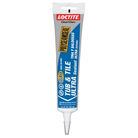 LOCTITE 5 oz Clear Tub and Tile Latex Kitchen and Bathroom Caulk