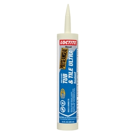 LOCTITE 10 oz Biscuit Tub and Tile Latex Kitchen and Bathroom Caulk