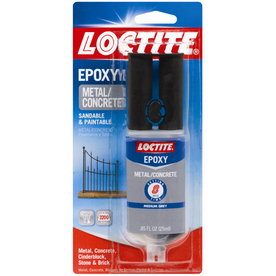 LOCTITE .85 oz Metal & Concrete Gray Epoxy