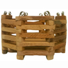 BETTER-GRO 4.5-in H x 6-in W x 4.75-in D Wood Wood Basket