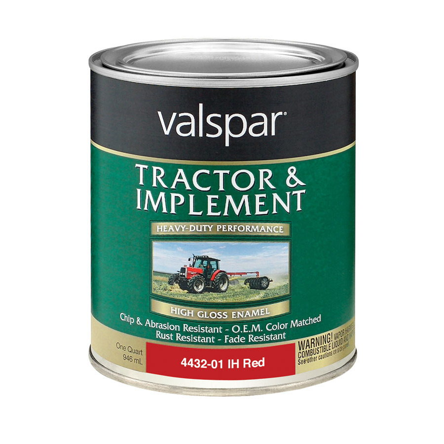Shop Valspar 1 Quart Exterior Gloss International Harvester Red Oil Base Paint At