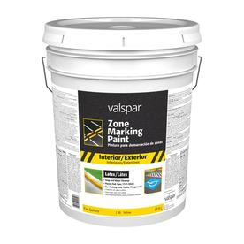 Valspar 5-Gallon Interior/Exterior Flat Yellow Paint