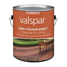 Valspar Semi-Transparent Concrete Stain Vaquero Brown (Actual Net Contents: 128-fl oz)
