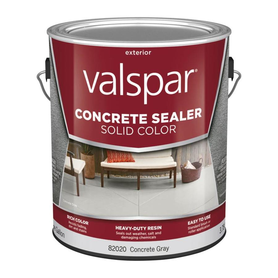 Shop Valspar 1 Gallon Solid Color Concrete Sealer Concrete