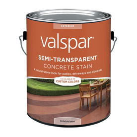 Valspar Semi-Transparent Concrete Stain Tintable Base (Actual Net Contents: 124-fl oz)