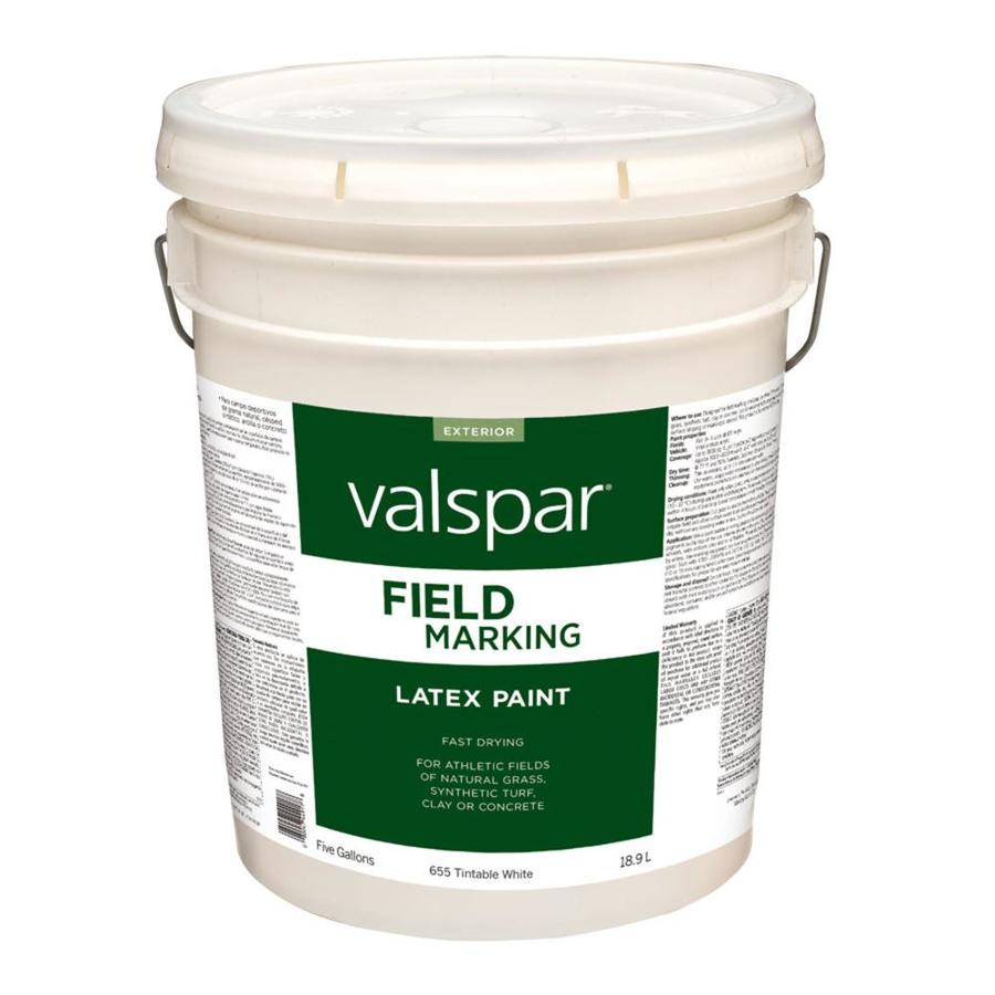 Shop Valspar 5 Gallon Size Container Exterior Flat Tintable White Latex Base Paint Actual Net