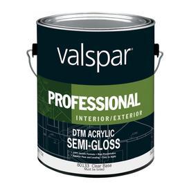 Shop Valspar Accent Base Semi Gloss Latex Interior Exterior Paint Actual Net Contents 116 Fl
