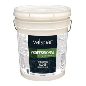 Shop Valspar Black Gloss Latex Interior Exterior Paint Actual Net Contents 640 Fl Oz At