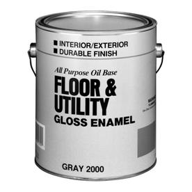 Valspar Gallon Interior/Exterior Gloss Porch and Floor Utility Gray Paint