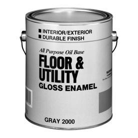 Valspar Utility Gray Gloss Oil-Based Enamel Interior/Exterior Paint (Actual Net Contents: 128-fl oz)
