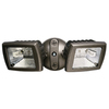 Utilitech 2-Head Halogen Bronze Switch-Controlled Flood Light