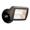 Utilitech 5.5-in Halogen Bronze Switch-Controlled Flood Light