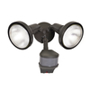 All-Pro 270-Degree 2-Head Bronze Halogen Motion-Activated Flood Light Timer Included