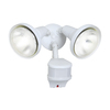 All-Pro 270-Degree 2-Head White Halogen Motion-Activated Flood Light Timer Included