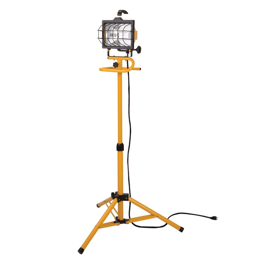 Shop Utilitech 500-Watt Halogen Stand Work Light At Lowes.com