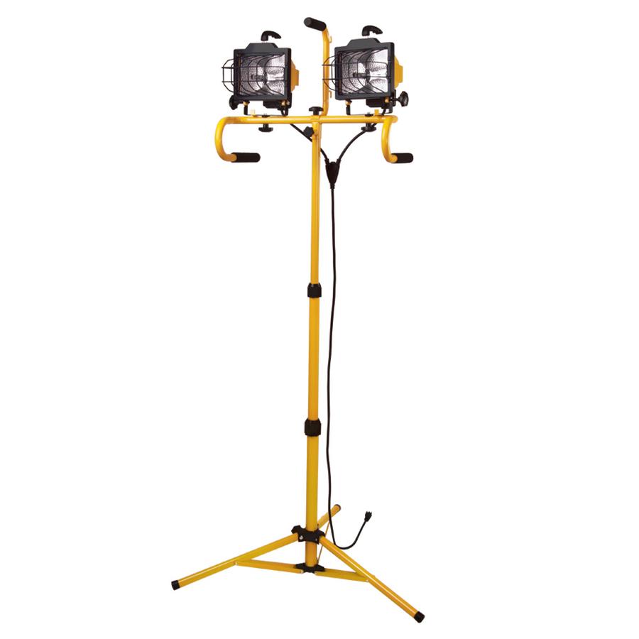Shop Utilitech 2-Light 500-Watt Halogen Stand Work Light