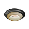 Utilitech Decorative 6-in Tuscan Bronze Baffle Recessed Lighting Trim