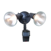All-Pro 180-Degree 2-Head Bronze Halogen Motion-Activated Flood Light Timer Included