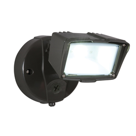 Shop Utilitech Pro 22-Watt Bronze Dusk-to-Dawn Security Light at ...