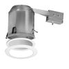 Halo White 6-in Remodel Recessed Lighting Kit