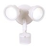 All-Pro 180-Degree 2-Head White Led Motion-Activated Flood Light Timer Included
