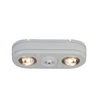 All-Pro Revolve 2-Head 26.7-Watt White LED Dusk-To-Dawn Security Light