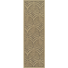 Bacova 22.4-in x 72.2-in Rectangular Beige Floral Area Rug