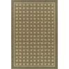 Bacova Woven Basket 5-ft x 7-ft 6-in Rectangular Beige Geometric Area Rug