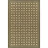 Bacova Woven Basket 7-ft 10-in x 9-ft 10-in Rectangular Beige Geometric Area Rug