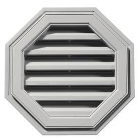 Builders Edge 18-in x 18-in Paintable Octagon Vinyl Gable Vent