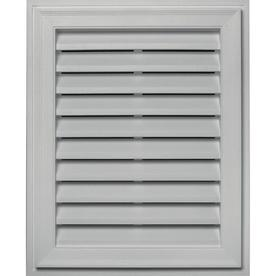 Builders Edge 20-in x 30-in Paintable Rectangle Vinyl Gable Vent
