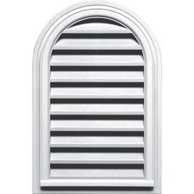 Builders Edge 22-in x 32-in White Round Top Vinyl Gable Vent