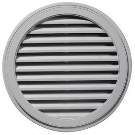 Builders Edge 36-in x 36-in Gray Round Vinyl Gable Vent