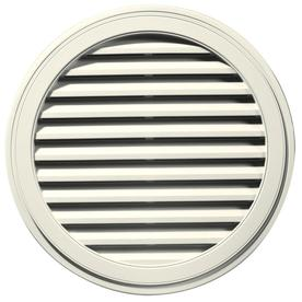 Builders Edge 36-in x 36-in Parchment Round Vinyl Gable Vent