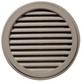Builders Edge 36-in x 36-in Clay Round Vinyl Gable Vent