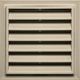 Builders Edge 14.2-in x 14.2-in Almond Square Vinyl Gable Vent