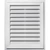 Builders Edge 20-in x 30-in Bright White Rectangle Vinyl Gable Vent