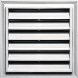 Builders Edge 14.2-in x 14.2-in Bright White Square Vinyl Gable Vent