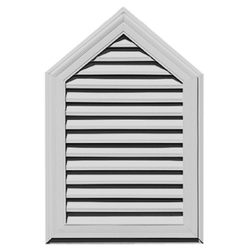 "Builders Edge 26"" x 39"" Paintable Vinyl Steeple Gable Vent"